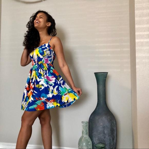 1474f4fd Zara Dresses | Multi Color Fit And Flare Dress | Poshmark
